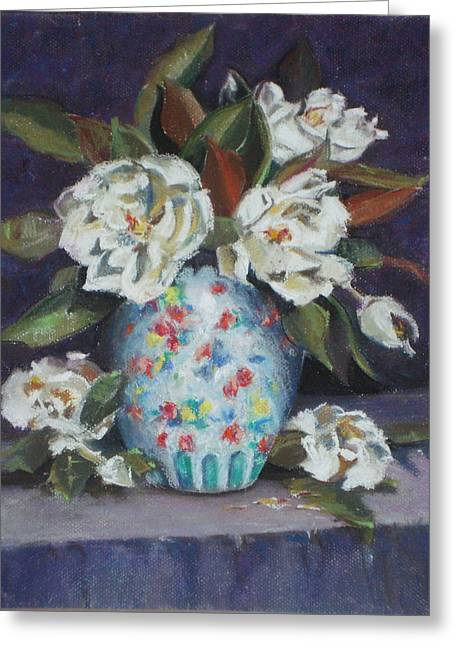 Flower. Petals Pastels Greeting Cards - White Flowers Greeting Card by Karen Coggeshall
