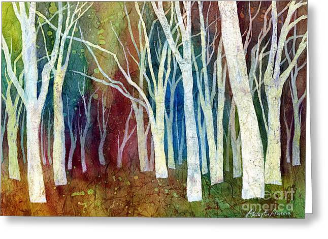 Tree Art Greeting Cards - White Forest I Greeting Card by Hailey E Herrera