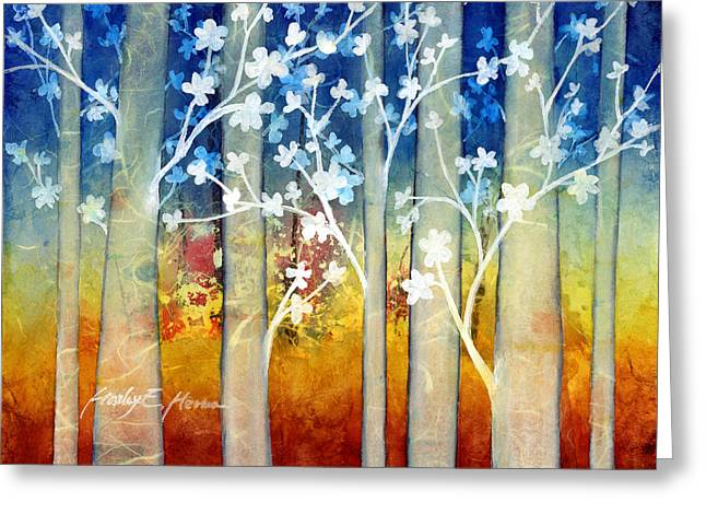 Treescape Greeting Cards - White Forest II Greeting Card by Hailey E Herrera