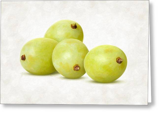 White Grape Greeting Cards - White Grapes Greeting Card by Danny Smythe