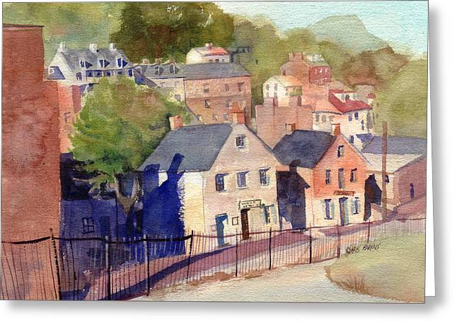 Harpers Ferry Paintings Greeting Cards - White Hall Tavern Greeting Card by Kris Parins