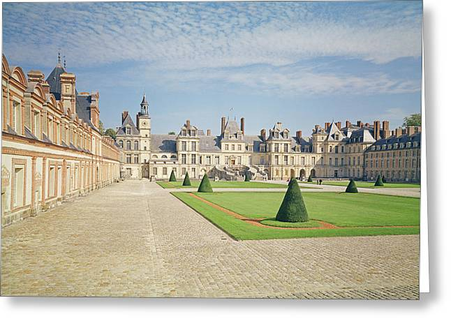 Fontainebleau Greeting Cards - White Horse Courtyard, Palace Of Fontainebleau Photo Greeting Card by .