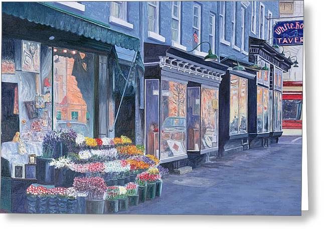 Fine Artworks Greeting Cards - White Horse Tavern Hudson Street West Village Greeting Card by Anthony Butera