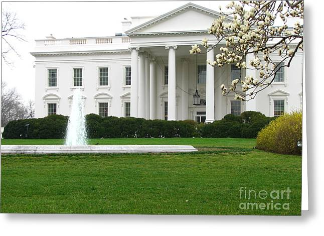 President-elect Greeting Cards - White House Greeting Card by DejaVu Designs