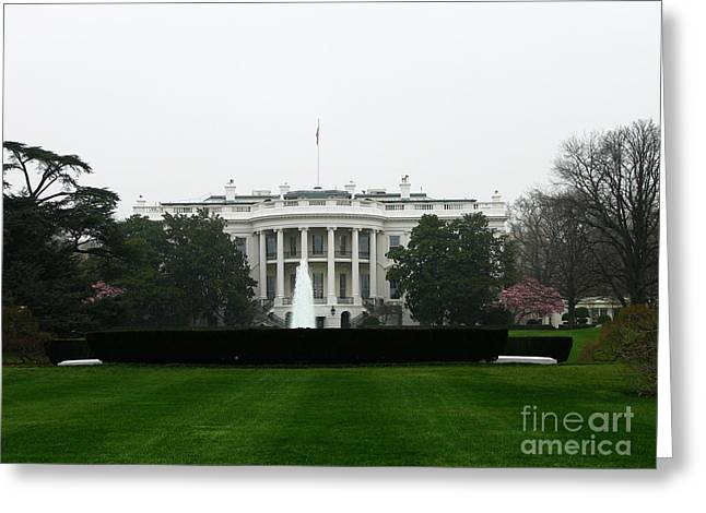 President-elect Greeting Cards - White House in DC Greeting Card by DejaVu Designs