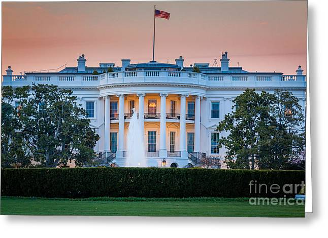 Lawn Greeting Cards - White House Greeting Card by Inge Johnsson