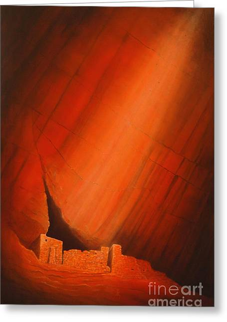 Pictograph Greeting Cards - White House Ruins Greeting Card by Jerry McElroy