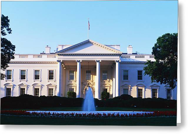 Presidential Photographs Greeting Cards - White House Washington Dc Greeting Card by Panoramic Images