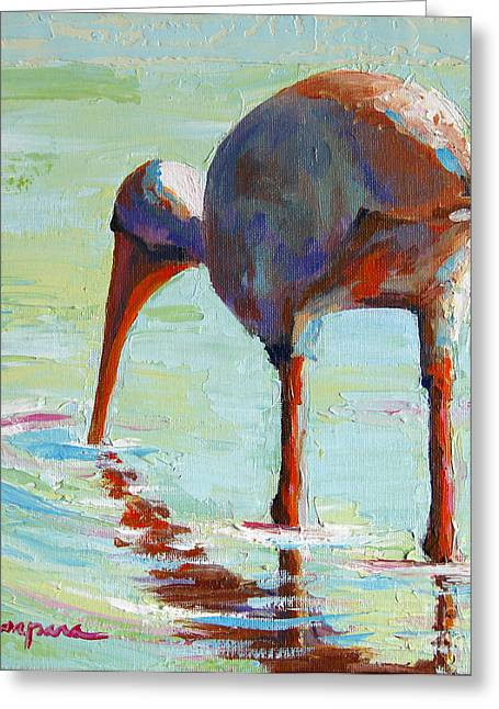 Wildlife Art Acrylic Prints Greeting Cards - White Ibis  Everglades Bird  Greeting Card by Patricia Awapara