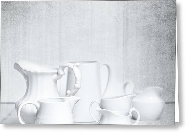 White Jugs Greeting Card by Amanda And Christopher Elwell