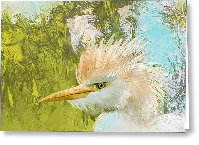 Owl Picture Greeting Cards - White Kingfisher Greeting Card by Catf