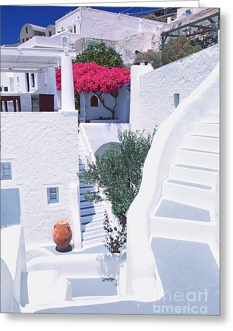 White Labyrinth Greeting Card by Aiolos Greek Collections