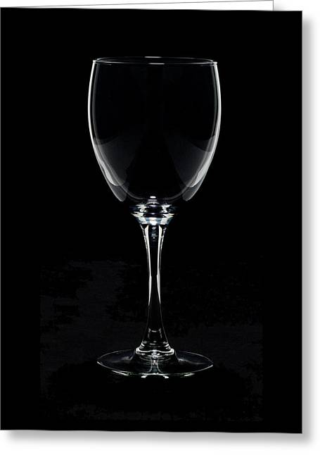 Wine-glass Pyrography Greeting Cards - White Lines Greeting Card by Joey Watson