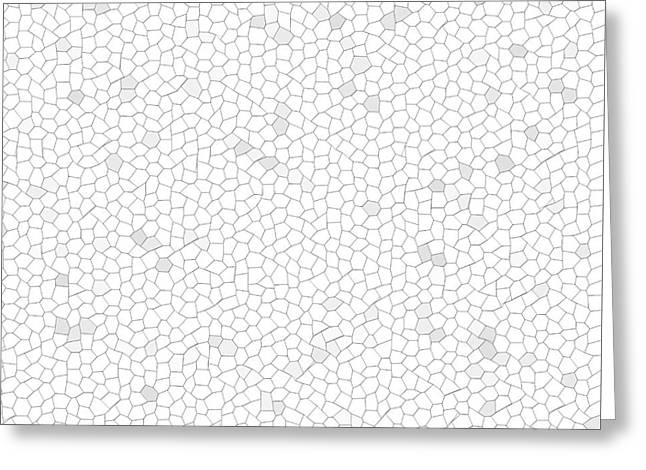 Unequal Greeting Cards - White Mosaic Greeting Card by Henrik Lehnerer