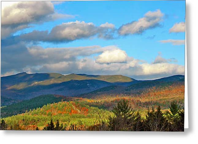 White Mountain Gold Greeting Card by Joann Vitali