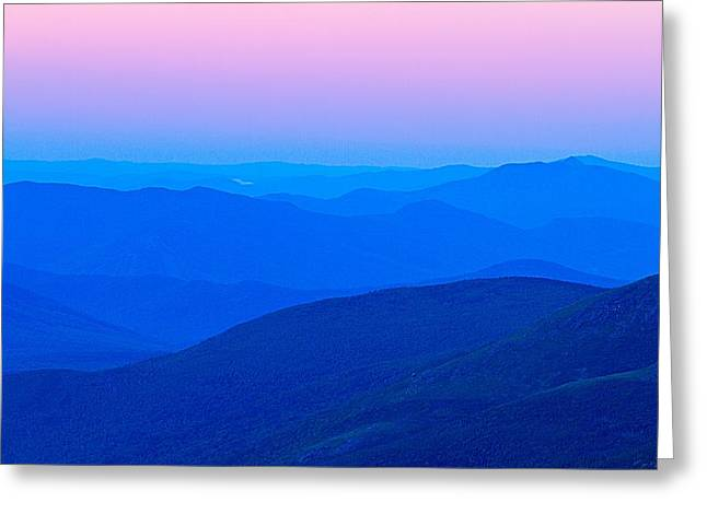 Deep Layer Greeting Cards - White Mountain Layers Greeting Card by Jeff Sinon