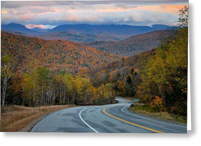 Roadway Greeting Cards - White Mountain Roads - New Hampshire Greeting Card by Thomas Schoeller