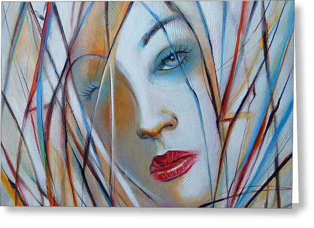 Australian Gold Coast Artist Greeting Cards - White Nostalgia 010310 Greeting Card by Selena Boron