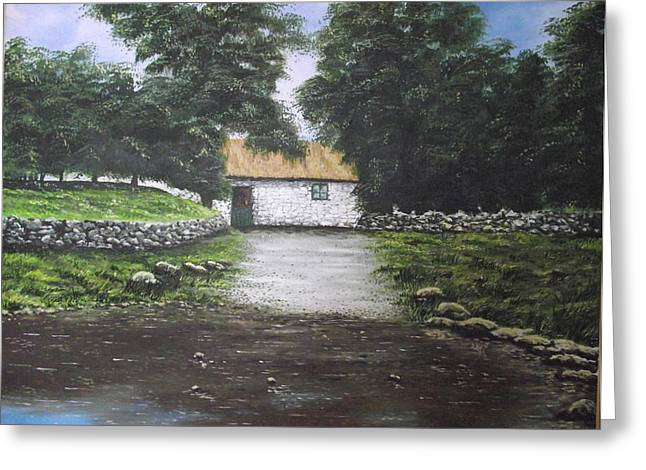 White O' Morn Cottage Greeting Card by Robert Gary Chestnutt