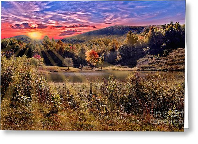 Jeff Mcjunkin Greeting Cards - White Oak Mountain Sunrise Greeting Card by Jeff McJunkin