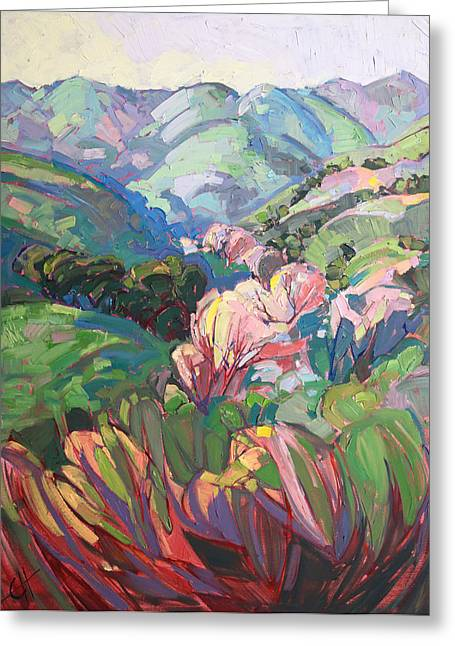 Paso Robles Greeting Cards - White Oaks Greeting Card by Erin Hanson