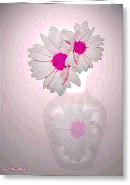 Numbers Plus Photography Greeting Cards - White On White Daisies Two Greeting Card by Joyce Dickens