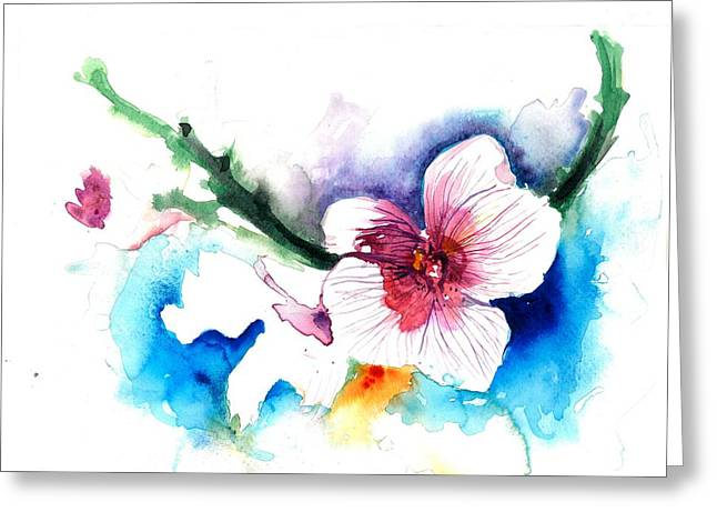 White Orchid  Greeting Card by Tiberiu Soos