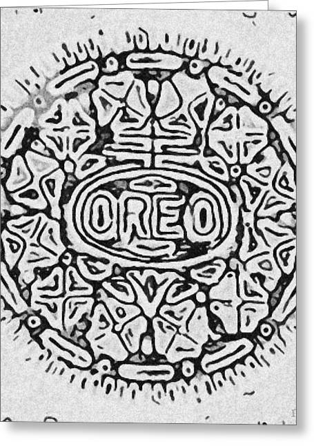 Oreo Greeting Cards - White Oreo Greeting Card by Rob Hans