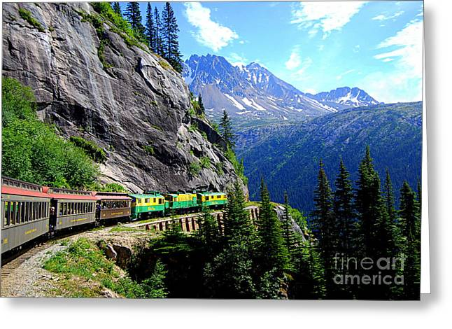 Best Sellers -  - Catherine White Greeting Cards - White Pass and Yukon Route Railway in Canada Greeting Card by Catherine Sherman