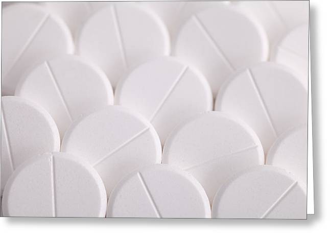 Pill Greeting Cards - White Pills Greeting Card by Dirk Ercken