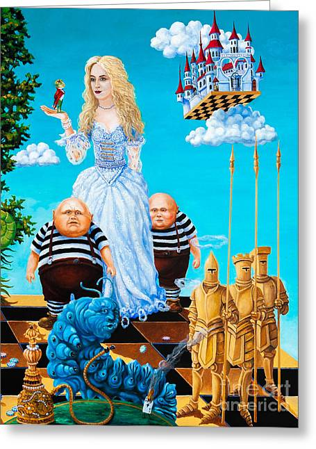 Knights Castle Paintings Greeting Cards - White Queen. Part 3 Greeting Card by Igor Postash