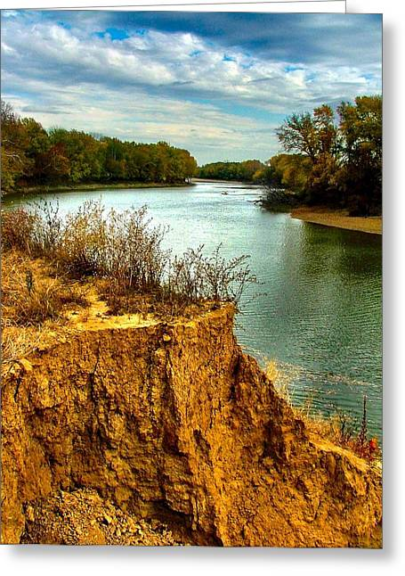Julie Dant Greeting Cards - White River Erosion Greeting Card by Julie Dant