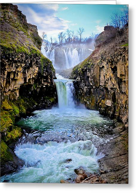 State Parks In Oregon Greeting Cards - White River Falls In Oregon Greeting Card by Athena Mckinzie