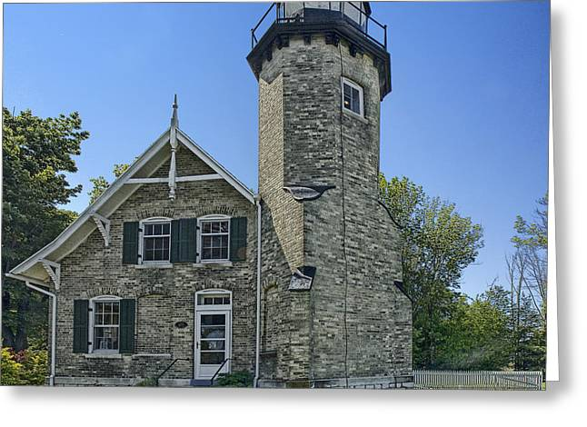 Randy Greeting Cards - White River Lighthouse Greeting Card by Randall Nyhof