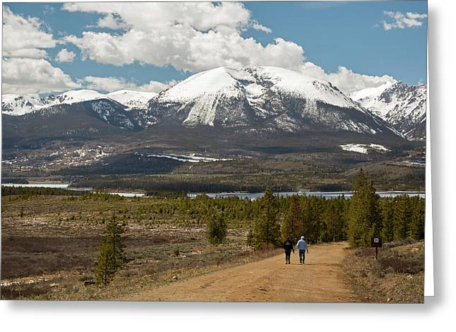 White River National Forest Trail Greeting Card by Jim West