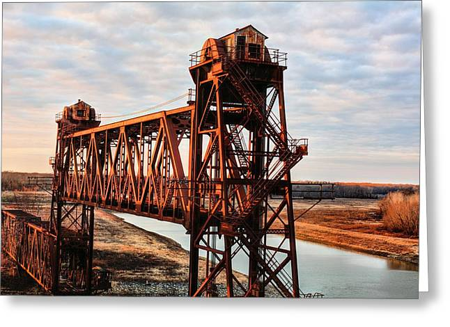 Arkansas Greeting Cards - White River Railroad Bridge Greeting Card by JC Findley