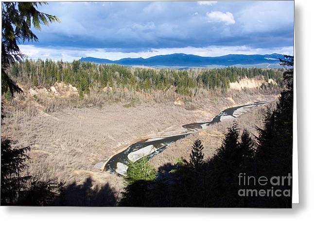 White River Greeting Cards - White River Valley Panorama in Winter Greeting Card by Stacey Lynn Payne
