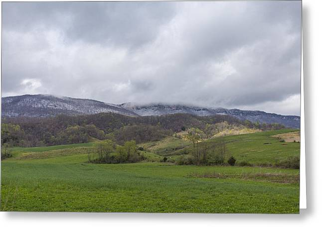 Ewing Greeting Cards - White Rock Snow Greeting Card by Brandon Dean