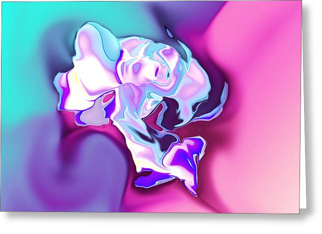 White Rose Ancient Sort Greeting Card by Christian Simonian