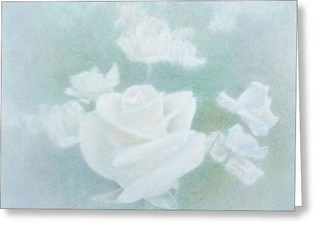 Print Greeting Cards - White Roses Greeting Card by Mark  Leavitt