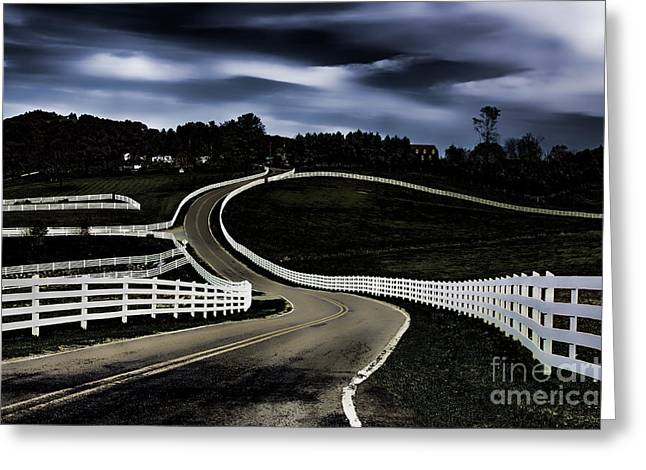 Sparta Greeting Cards - White Running Fence II Greeting Card by Dan Carmichael