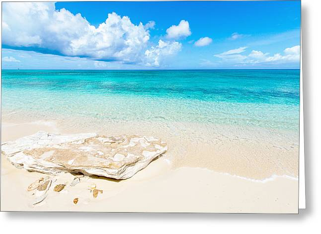 Light Aqua Greeting Cards - White Sand Greeting Card by Chad Dutson
