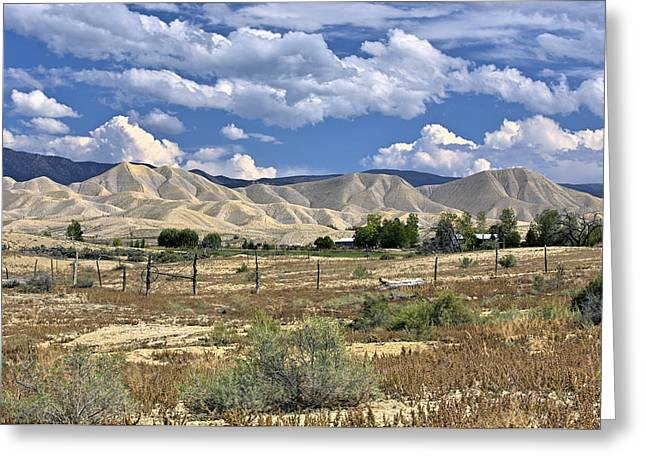 Landscape Mixed Media Greeting Cards - White Sand Hills Montrose Colorado Greeting Card by James Steele
