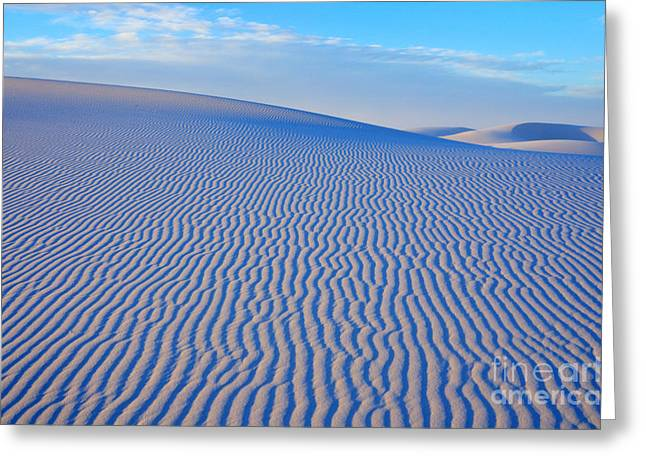 Sand Pattern Greeting Cards - White Sand Patterns New Mexico Greeting Card by Bob Christopher