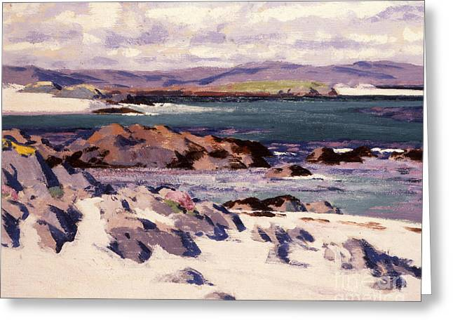 Headlands Greeting Cards - White Sands   Iona  Greeting Card by Francis Campbell Boileau Cadell