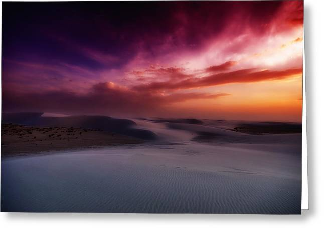 Soft Light Greeting Cards - White Sands Beauty Greeting Card by Mountain Dreams