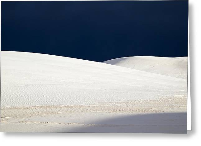White Sands Dark Sky Greeting Card by Mary Lee Dereske