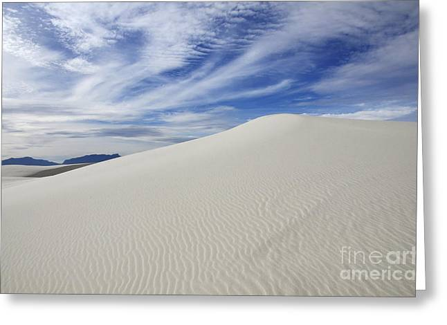 Sand Pattern Greeting Cards - White Sands National Monument Big Dune Greeting Card by Bob Christopher