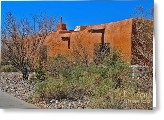 White Sands New Mexico Adobe 01 Greeting Card by Gregory Dyer
