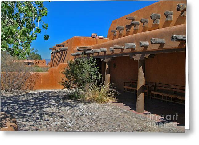 White Sands New Mexico Adobe Greeting Card by Gregory Dyer